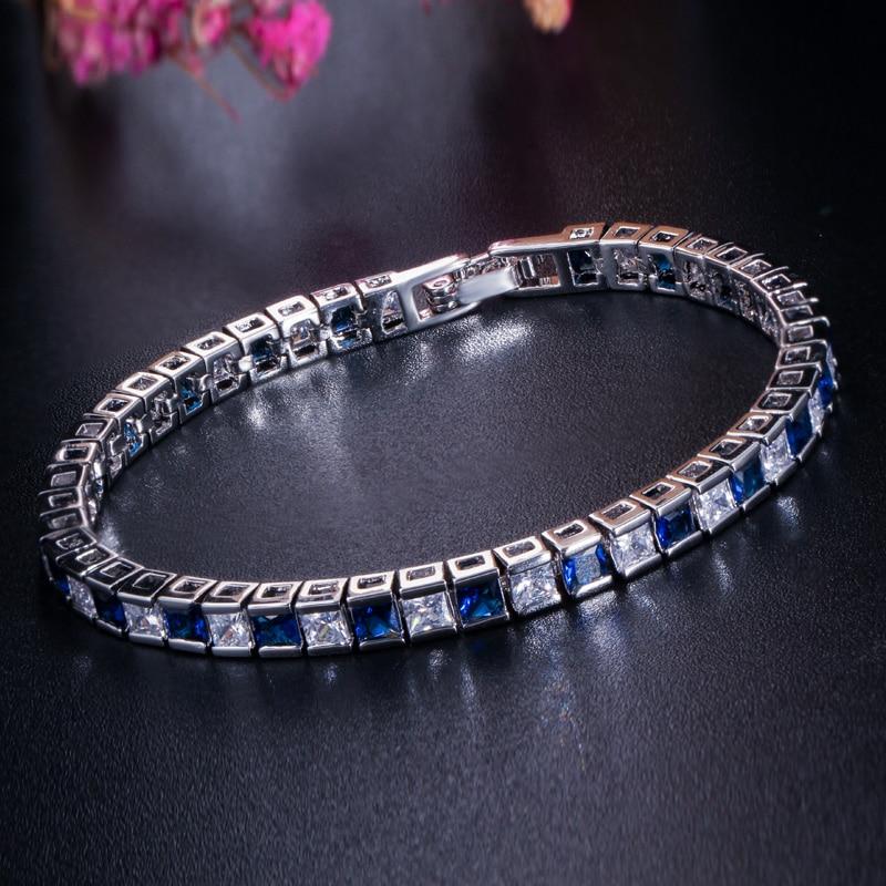 Pera 925 Sterling Sølv Kvinder Smykker Østrigsk Mørkeblå Stor - Mode smykker - Foto 3