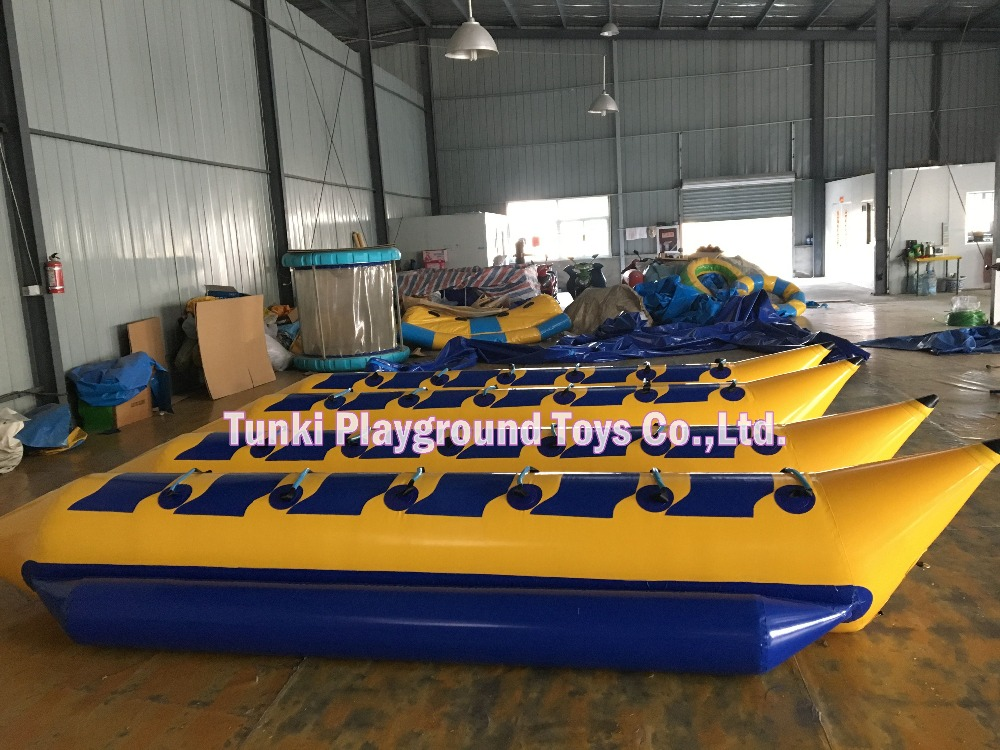 12 seats double lines inflatable banana boat