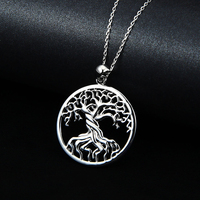 2016 Antique Tree Of Life Necklace Gold Silver Plated Pendant Necklaces Memory Locket Charm Women Vintage