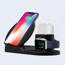 Besegad 3 in 1 7.5W Fast Wireless Charging Stand Dock Station for iPhone XS Max 8 Plus X XR Apple Watch Series 1 2 3 4 Airpods