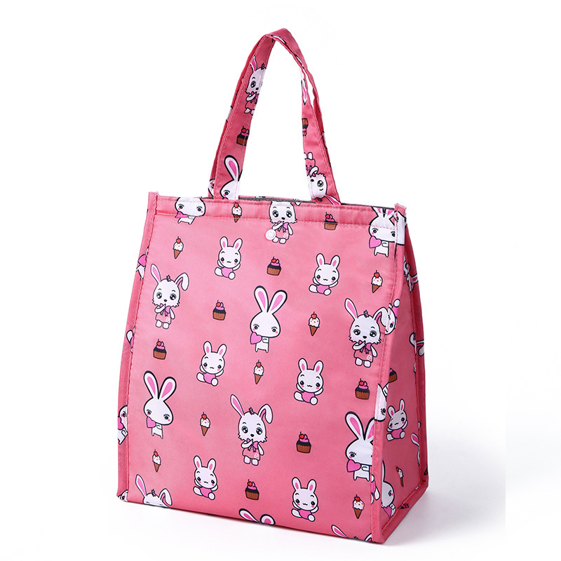 Fashion Design Cooler Lunch Box Portable Insulated Canvas Lunch Bag Thermal Food Picnic Lunch Bags For Women Kids