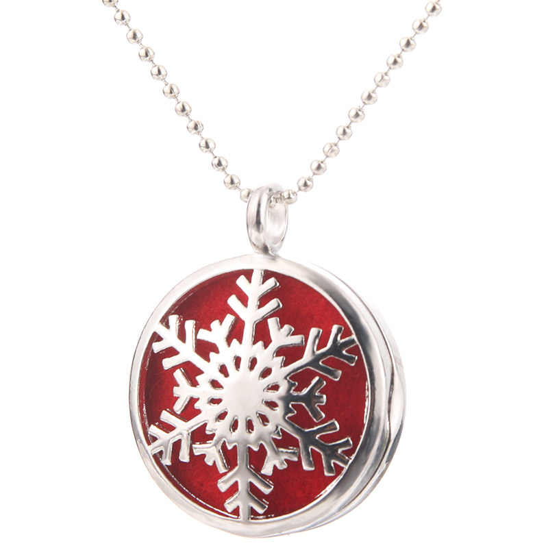 Beautiful Snowflake Aromatherapy Essential Oil Diffuser Necklace Fashion Perfume Locket Pendant Creative Fine jewelry