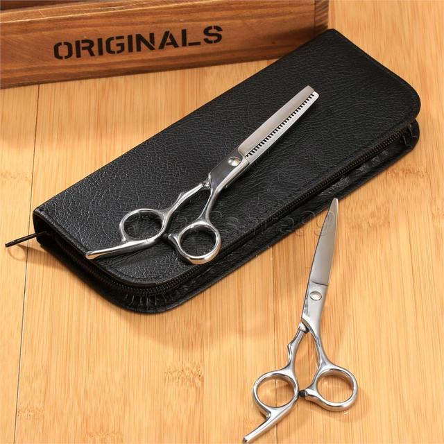 Alta qualidade de corte e desbaste tesoura de cabeleireiro tesoura de cabelo profissional barbeiro + frete grátis