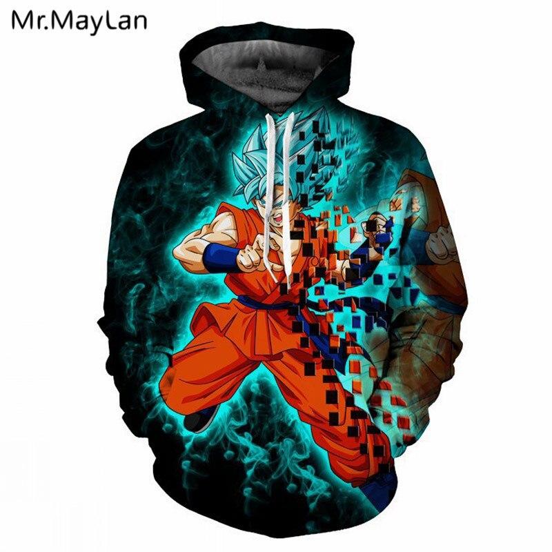 Anime Dragon Ball Super Goku Vegeta Cosplay Hoodie Sweatshirt Zip Up Jacket Coat Ture 100% Guarantee Hoodies & Sweatshirts