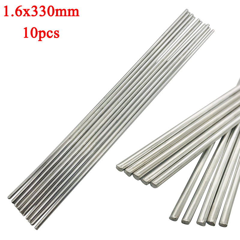 Welding Rods 10Pcs 1.6x330mm Aluminum Alloy Silver Welding Brazing Wire Solder TIG Filler Rod