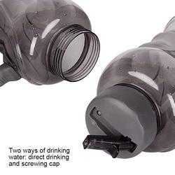 1 5l kubek na wodę o dużej pojemności butelka sportowa na wodę butelka na wodę ze słomką z uchwytem FH99 w Butelki sportowe od Sport i rozrywka na