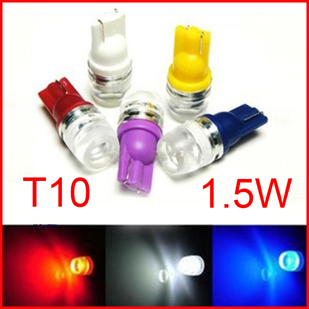 Wholesale <font><b>100x</b></font> <font><b>T10</b></font> 1.5W High power W5W white <font><b>T10</b></font> 194 168 192 W5W super bright Auto <font><b>led</b></font> car <font><b>led</b></font> lighting wedge <font><b>led</b></font> auto lamp image