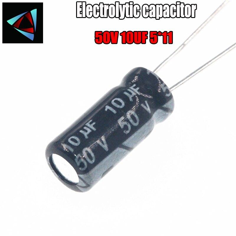 28PCS Higt Quality 50V 10UF 5*11mm 10UF 50V 5*11 Electrolytic Capacitor