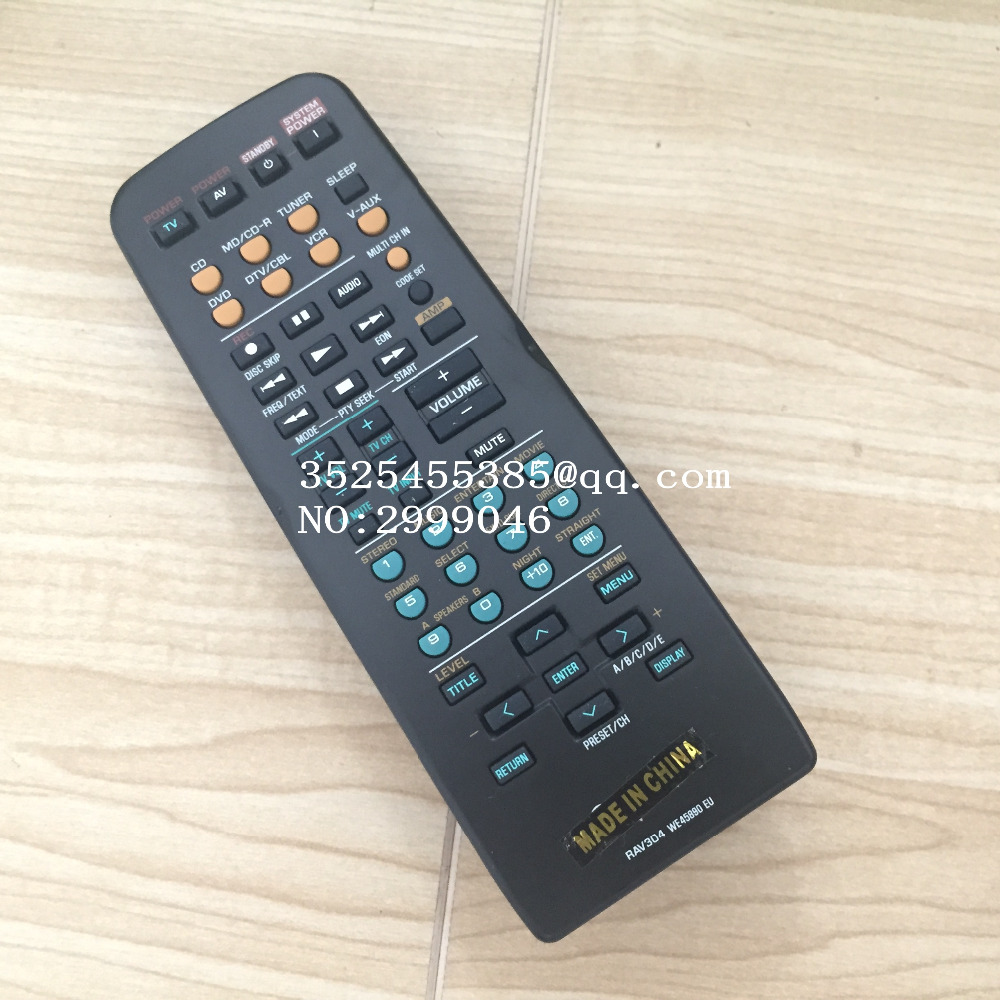 Brand new Original remote control REPLACEMENT RAV304 WE45890 For YAMAHA RX-V457 RX-V550 power amplifier remote control цена