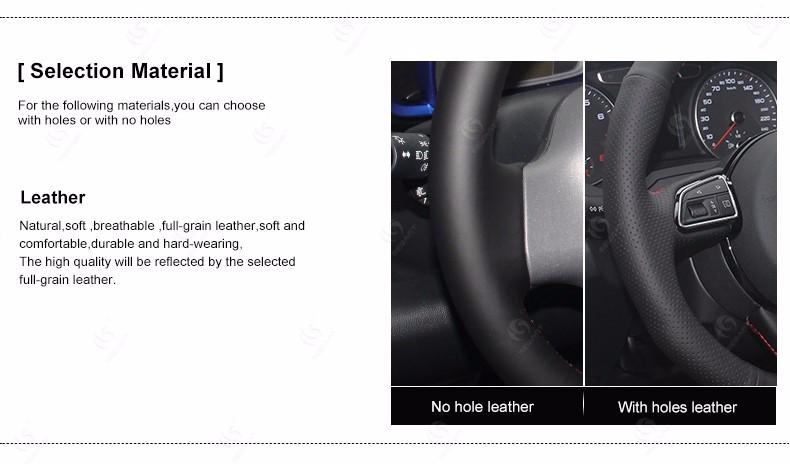 mewant черной искусственной кожи рулевого колеса автомобиля обложка для Киа К2 Киа Рио 2011