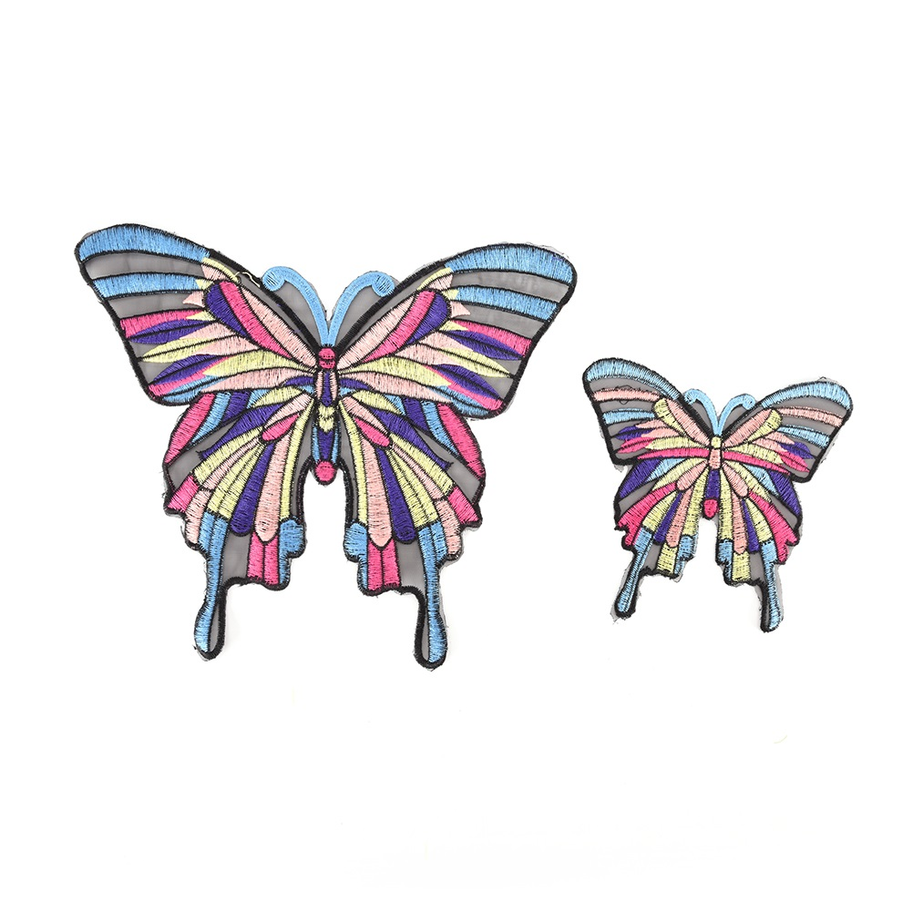 Большая бабочка вышивка