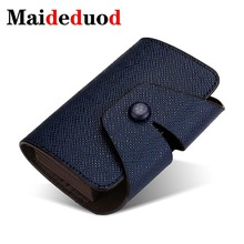 Maideduod New PU Leather Unisex Business Card Holder Wallet Bank Credit Case ID Holders Men Women cardholder porte carte