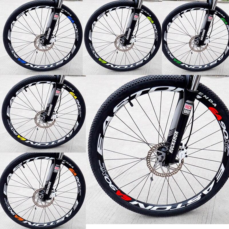 Ea90xc decalques/adesivos de mountain bike/bicicleta para duas rodas aro mtb dh corrida ciclismo 8 peças