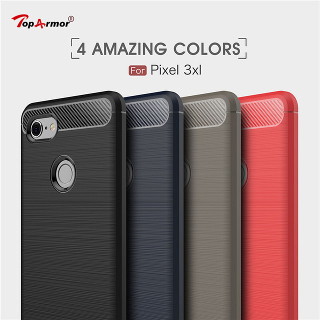 san francisco f7afe 578fc US $2.36 21% OFF|Luxury Shockproof Case For Google Pixel 3 3XL Carbon fiber  drawing silicone Soft TPU Case For Google Pixel 3 XL Phone Cover Capa-in ...