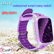 GPS Children Smart Watch DS18 GPS WiFi Locator Tracker Kid Wristwatch Waterproof SOS Call Smartwatch Child For iOS Android