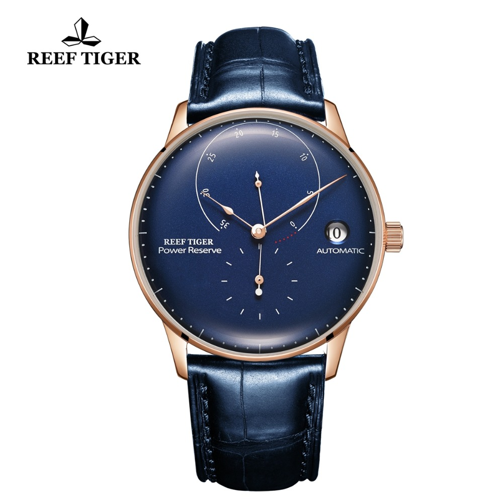 2019Reef Tiger/RT Top Brand Luxury Casual Watches Mens Blue Genuine Leather Strap Automatic Watch RGA82B0-22019Reef Tiger/RT Top Brand Luxury Casual Watches Mens Blue Genuine Leather Strap Automatic Watch RGA82B0-2