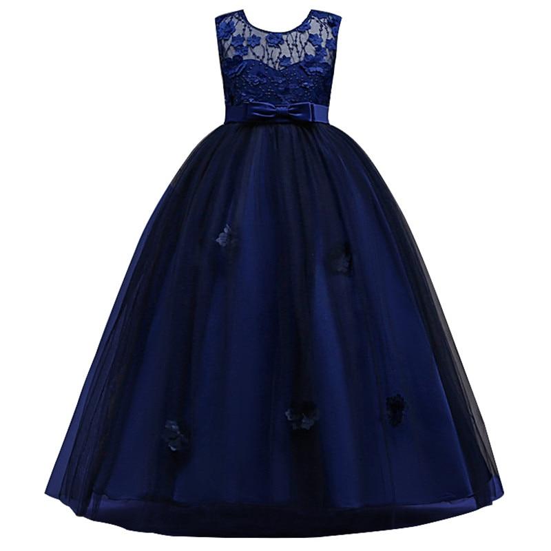 2018 новые детские Обувь для девочек Свадебное платье с цветочным узором для девочек принцесса праздничное платье торжественное платье без рукавов От 3 до 14 лет одежда