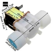 """Новое поступление пластиковый Электрический 12 В Соленоидный клапан DC 3/"""" N/C обычно закрытый вход управление потоком электронные системы передачи данных"""