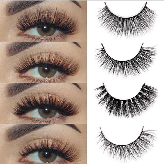 Good False Eyelashes Makeup 3D mink Eyelashes Extension ...