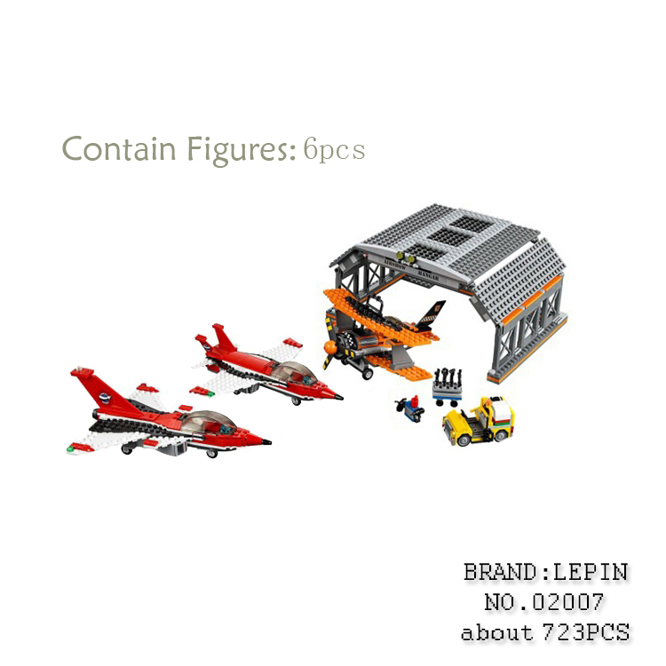 Lepin 02007 723pcs City Series Airport Flight Performance Building Blocks Bricks toys for children gifts Compatible 60103 1710 city swat series military fighter policeman building bricks compatible lepin city toys for children