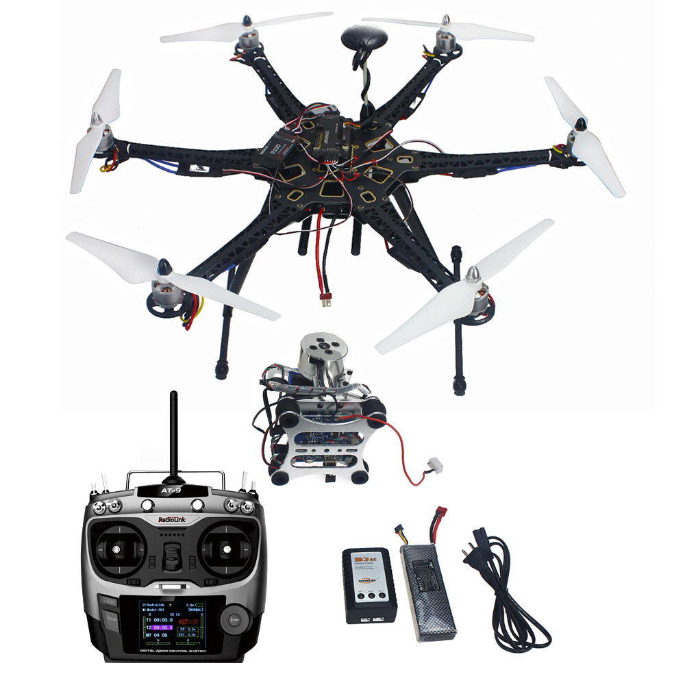 F08618-M JMT Assembled HMF S550 F550 Upgrade RTF Kit with Landing Gear & APM 2.8 Flight Controller GPS Compass & Gimbal FS f08618 hmf s550 f550 upgrade hexacopter frame kit with landing gear for fpv