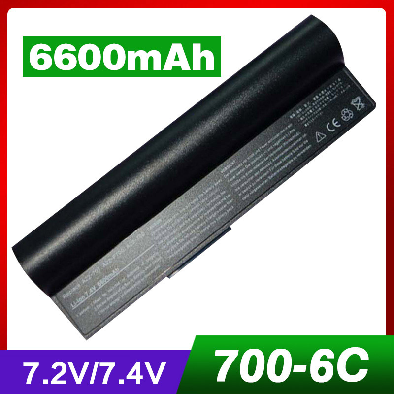 4400mAh Laptop Battery For Asus 90-OA001B1100 A22-700 A22-P701 P22-900 Eee PC 2G 4G Surf 8G 4G-X Eee PC 700 701 900 6 cells pitatel bt 128a аккумулятор для ноутбуков asus eee pc 700 701 801 900