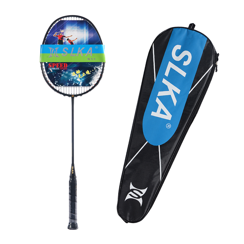 Spuer Light 6U 72g Strung Badminton Racket Professional Carbon Badminton Racquet 22-30 LBS Free Grips And Wristband