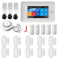 PGST 433MHz Alle Touch farbe Bildschirm Wireless WIFI GSM GPRS RFID karte Einbrecher Alarm System Smart Home Sicherheit DIY alarm