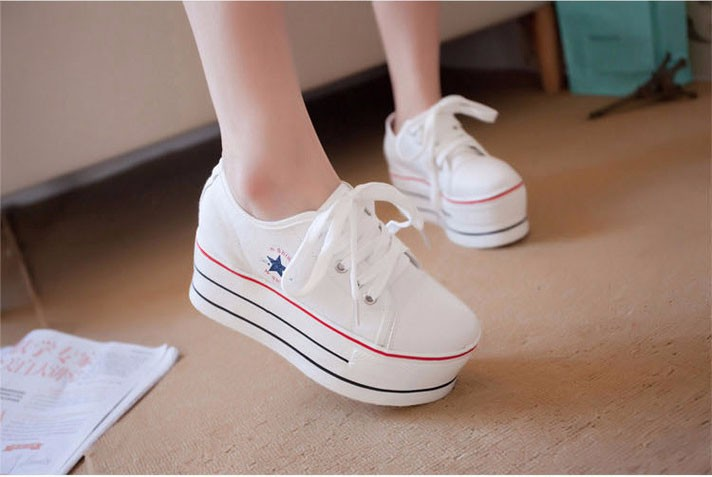 KUYUPP Flat Platform Canvas Shoes Women Creepers 2016 Fashion Sapatilha New Lace Up Casual Flats Ladies Shoes Espadrilles PX138 (12)