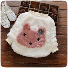 2016 Autumn Baby Girl Clothes Fashion Cute Children Kids Costume Winter Cartoon Rabbit Sweater Vestidos Infantil Warm Baby Cloth