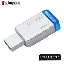 Kingston Mental Flash Memorias 64gb Memory Stick 100 Original Brand USB 3 0 Flash Drive Storage