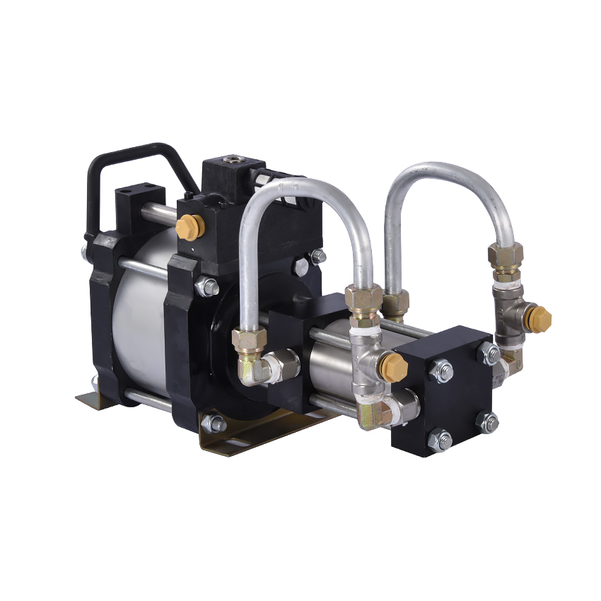 New Arrival SLM06 Refrigerant Booster Pump Portable Refrigerant Freon Filling/Transfer/Recovery Pump 6:1 0-48bar 15L/min 60mm portable refrigerant recovery unit suitable for commerce refrigerated cabinet