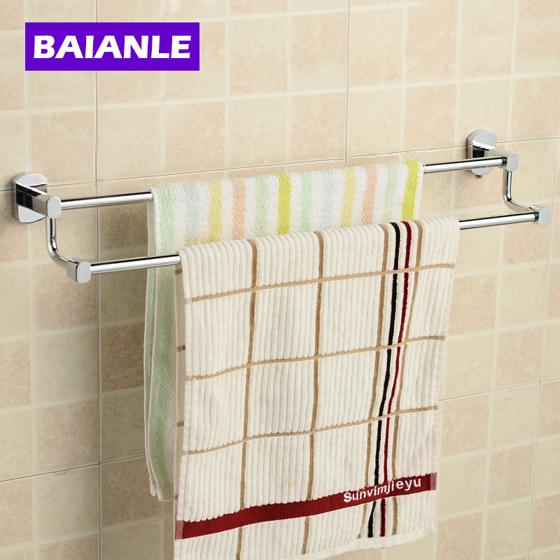 Double Towel Bars Towel Holder,Solid Copper Finished,Bathroom Products,Bathroom Accessories 2015 copper golden chrome bathroom accessories suite bathroom double towel bar soap bars brush holder discbathroom accessories
