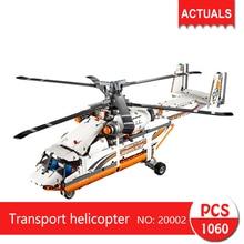 Lepin 20002 1060 Pcs Technique série Transport hélicoptère Blocs de Construction Briques Jouets Pour Enfants Cadeau