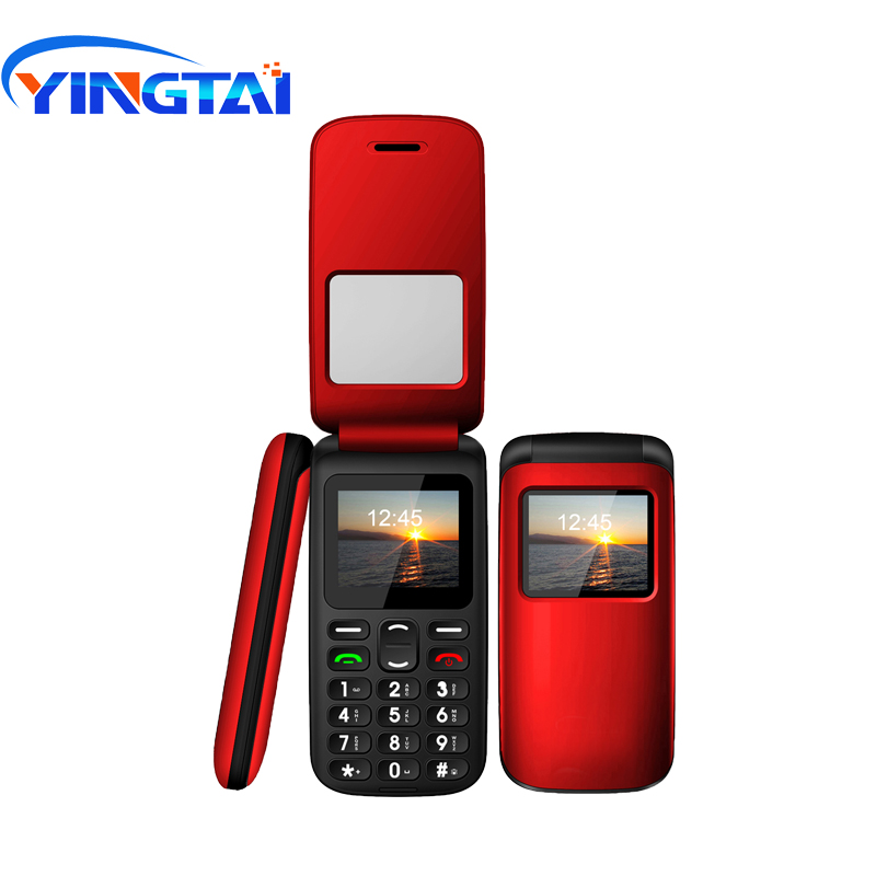 Image 5 - YINGTAI T40 Big push button cheap flip phone for elder Unlocked 1.77 inch wireless FM SOS telephone  Express mobile phone-in Cellphones from Cellphones & Telecommunications
