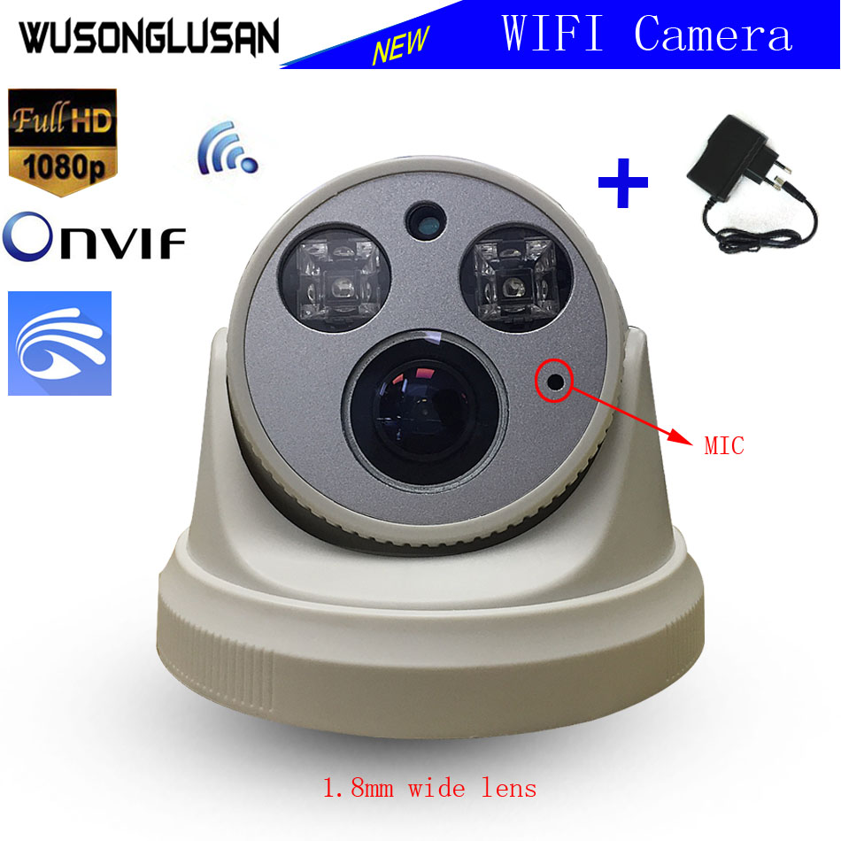 Yoosee Wifi font b Wireless b font Dome Camera 1080P 960P 720P 1 7mm Lens SD