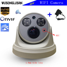 Yoosee Wifi Wireless Dome Camera 1080P 960P 720P 1.7mm Lens SD Card P2P Mic Onvif 20M IR Distance Motion Dectetor CCTV Monitor