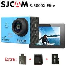 Originale sjcam sj5000x elite wifi 4 k 24fps gyro dv sport 2.0 lcd macchina fotografica di azione impermeabile + extra 1 pz batteria + caricabatteria + 32 gb scheda