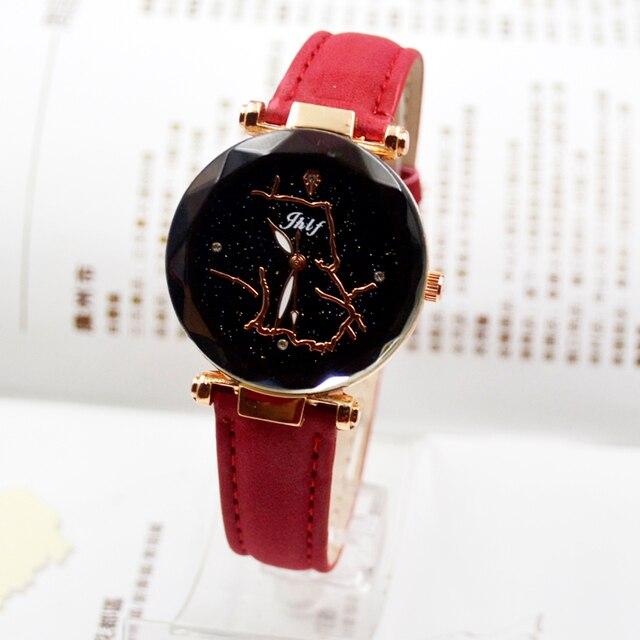 Nuovo orologio di modo delle signore di modo, cintura impermeabile, orologio al quarzo, casual, semplice starry Vigilanza delle donne
