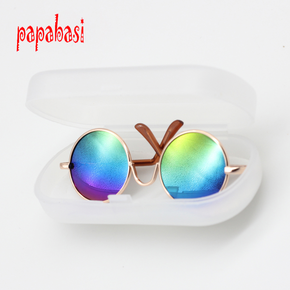 Doll Accessories round-shaped Round glasses colorful glasses sunglasses suitable for Americal Girls doll toy  new style doll accessories round shaped glasses sunglasses suitable for 1 3 bjd dolls mini doll glasses for dolls good quality