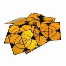 Желтый отражающий 200 шт Отражатель Лист 20x20 мм Светоотражающая Целевая лента