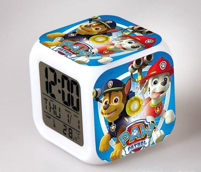 PAW Patrol LED Flash Chaging Digital Alarm Clocks Kids Bedroom ...