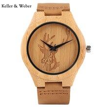 КВт Творческий Лось голова оленя деревянные часы кожаный ремешок Для мужчин кварцевые наручные часы Винтаж Стиль часы подарок Relógio masculino