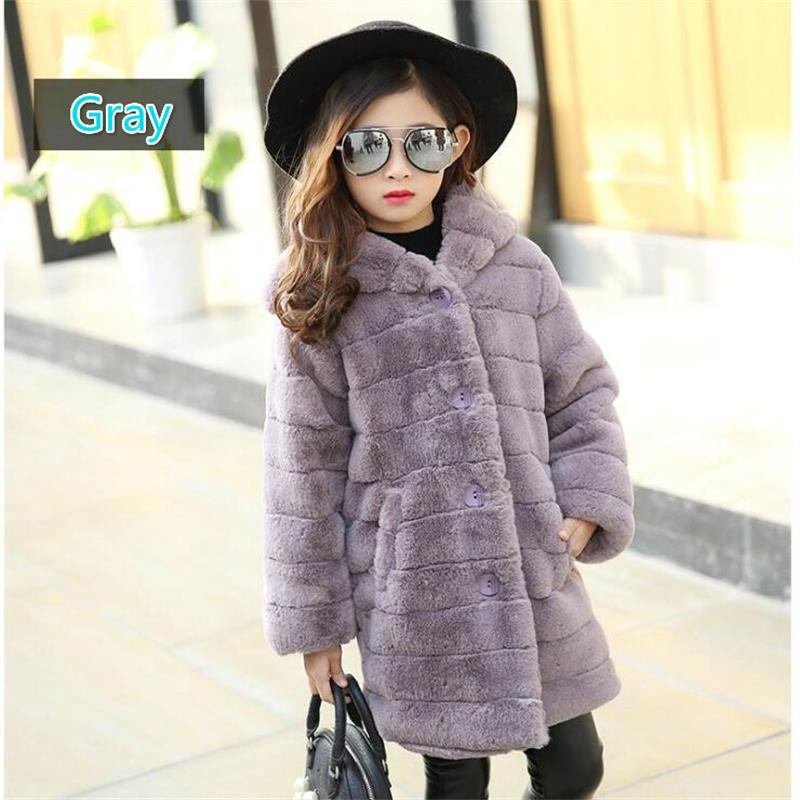 Jackets For Girls 2018 Autumn Winter Children Outerwear Girls Cardigan Coat Kids Clothes Casual Long Jacket Girl Coats 120-160CM