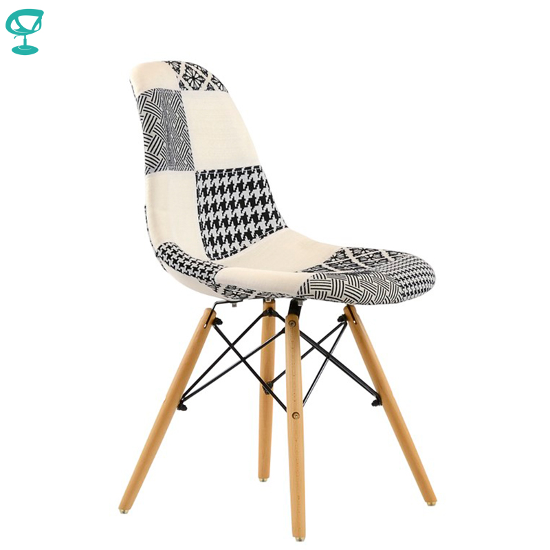 95231 Barneo N-12 Fabric Patchwork Wood Kitchen Breakfast Interior Stool Bar Chair Kitchen Furniture  Free Shipping In Russia