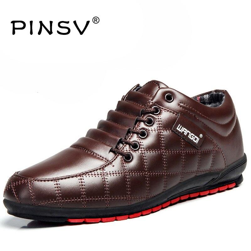 Invierno de Los Hombres Zapatos Casuales Zapatos Planos de Los Hombres de Moda d