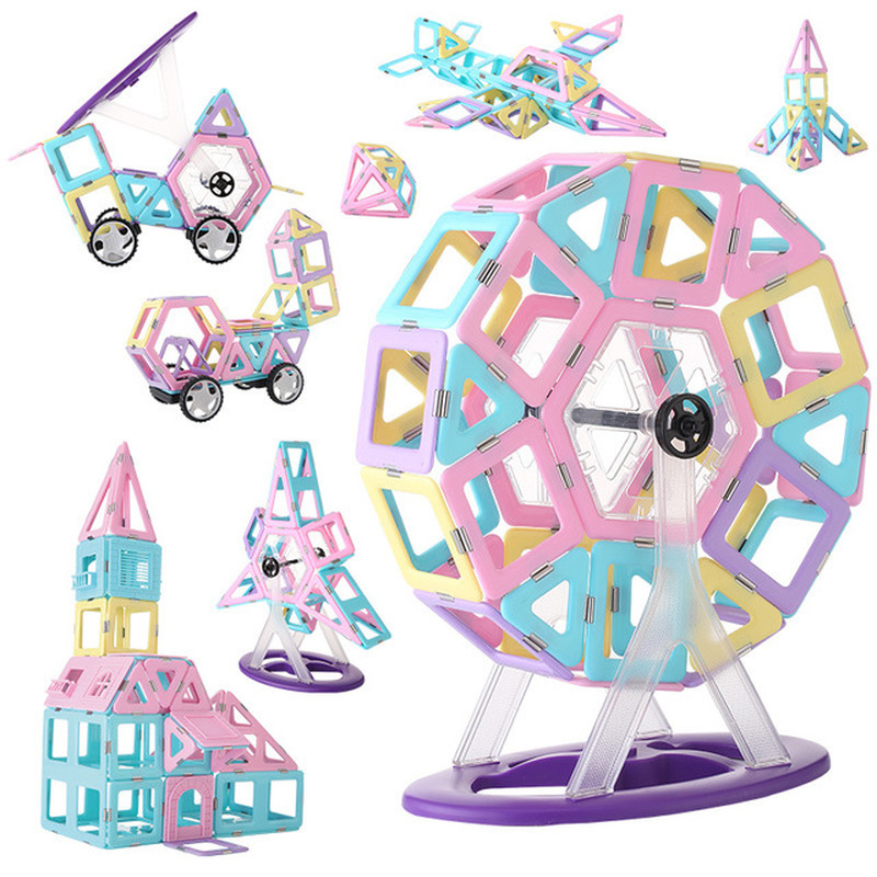 New Steel Magnetic Piece Building Blocks DIY Childrens Toy Safety