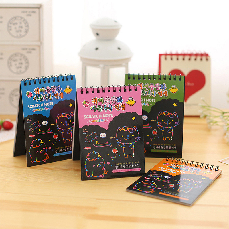 Korean Sketchbook Cute Notebook Ring Binder School