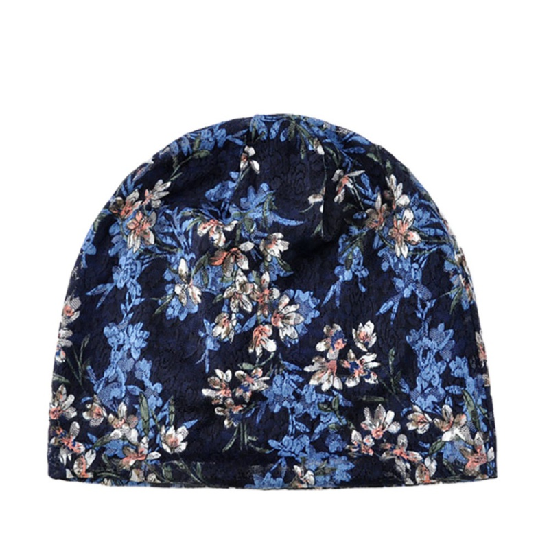 Beach Beanies Cap Female confinement Cotton Lace Flower Leisure Outdoor Breathable Elastic Summer Sun Hat Model Fishing Running