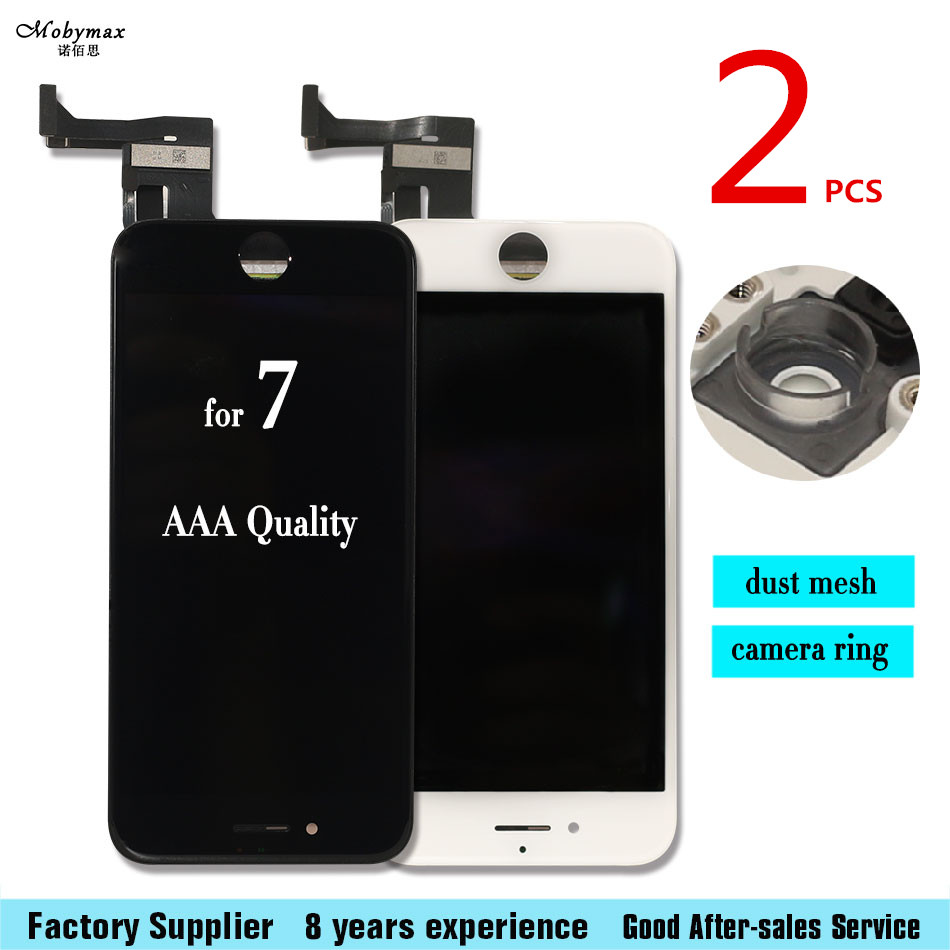 2pcs 4.7 inch LCD For iPhone 7 LCD Grade AAA None Spot Display with Touch Screen Digitizeer Assembly Black/White